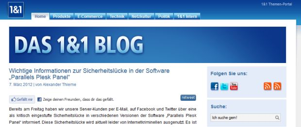 serviceblog beispiel